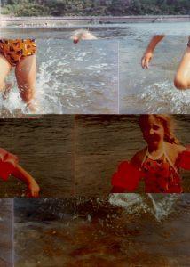 Nikki in the Sea in Brixham 1976